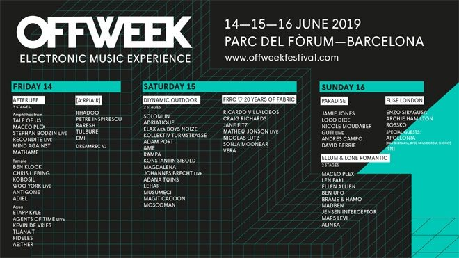 Off Week returns to Barcelona with house and techno's finest