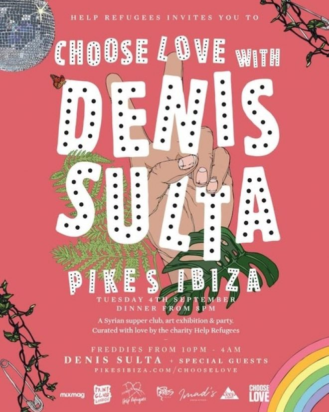 Denis Sulta to headline Choose Love party at Pikes Ibiza
