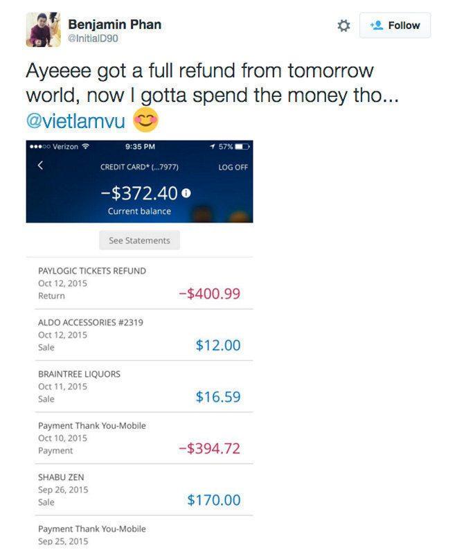 refund En busca de redención, TomorrowWorld devuelve el dinero