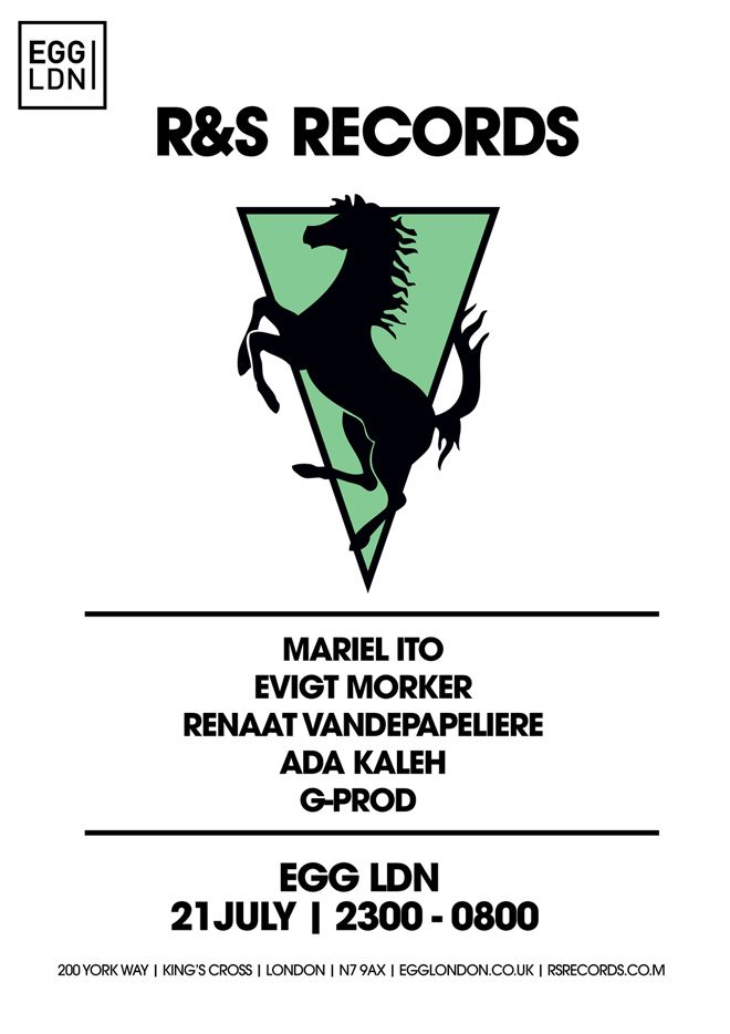 R&S has booked Maceo Plex under his Mariel Ito alias for Egg LDN