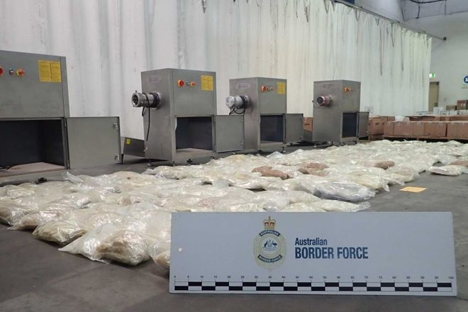 $57 million worth of MDMA discovered in sausage-making machines