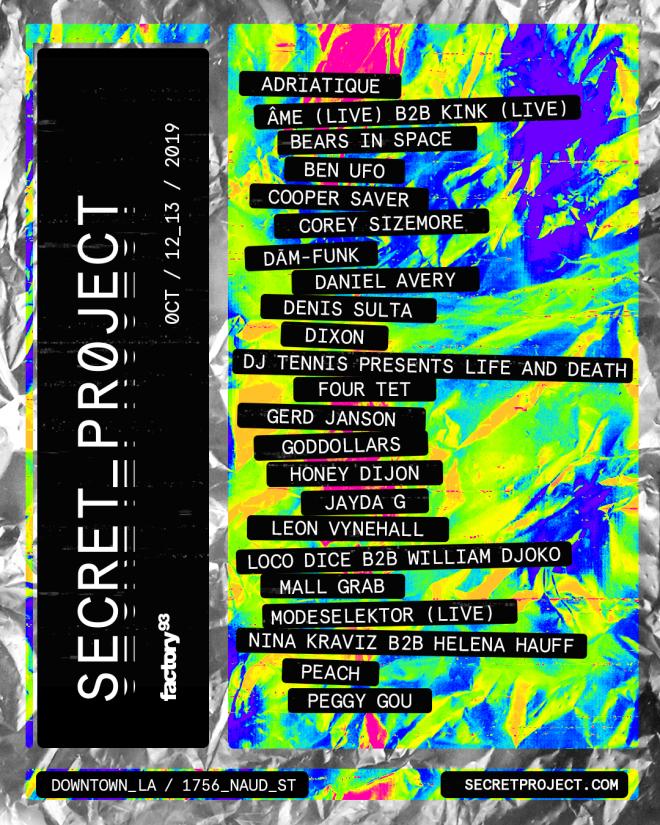 LA's Secret Project drops its 2019 line-up