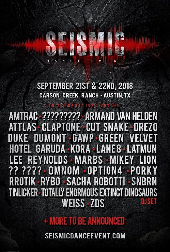 Green Velvet, Claptone, Duke Dumont head to Seismic Festival in Austin, Texas