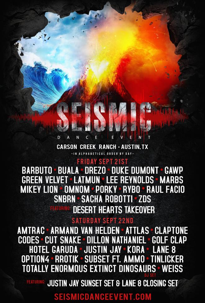 Green Velvet, Claptone, Duke Dumont head to Seismic Dance Event in Austin, Texas
