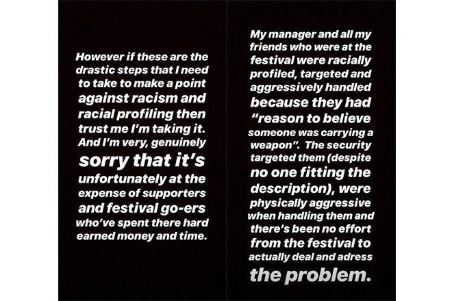 "Stormzy cancels Snowbombing appearance due to ""racial profiling"""