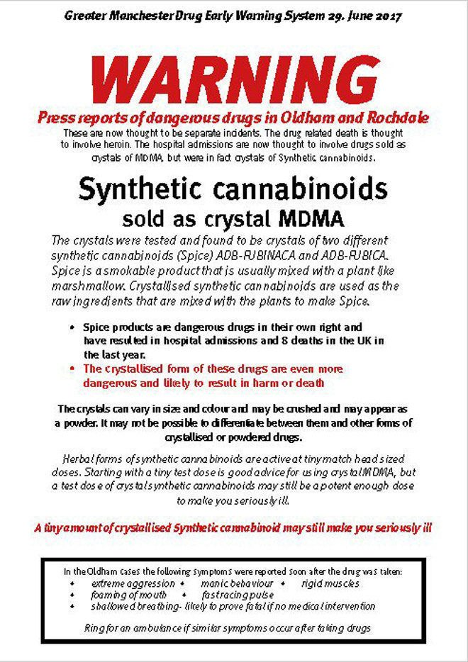 """Highly potent"""" synthetic cannabinoids are reportedly being"""