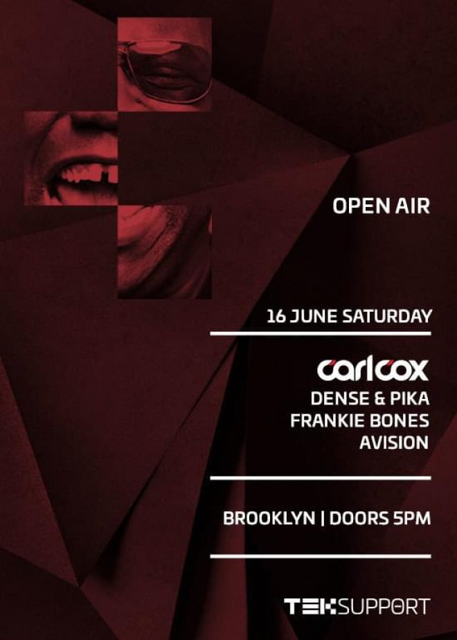Carl Cox heads to Brooklyn for Teksupport's day into night open-air event