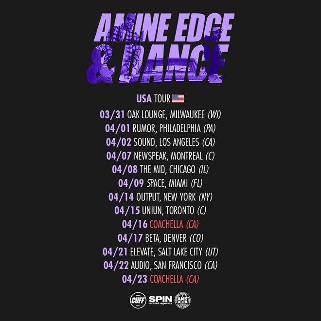 amine edge & dance tour