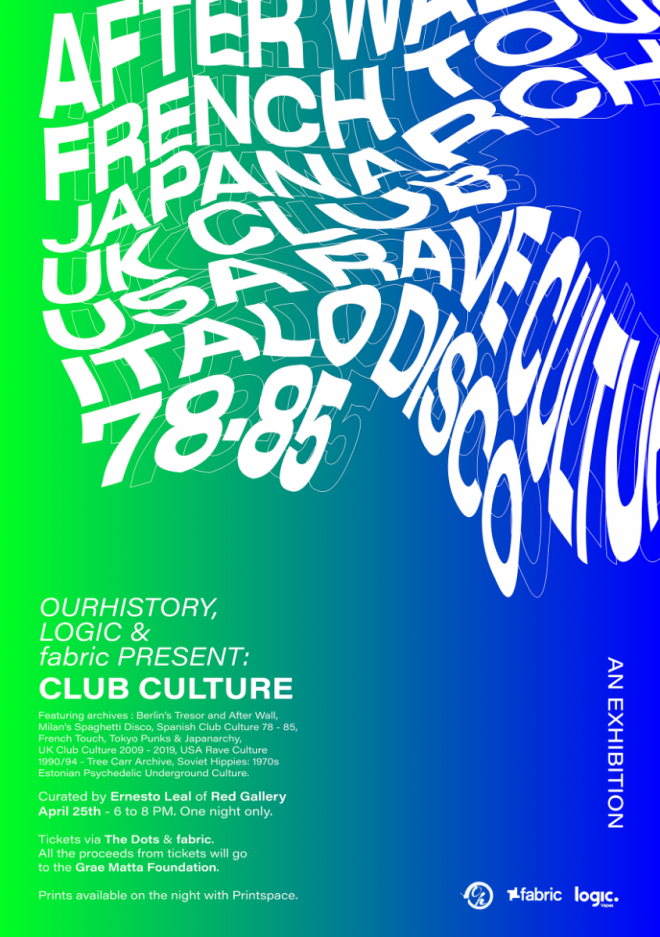 A one-off club culture exhibition is heading to Fabric