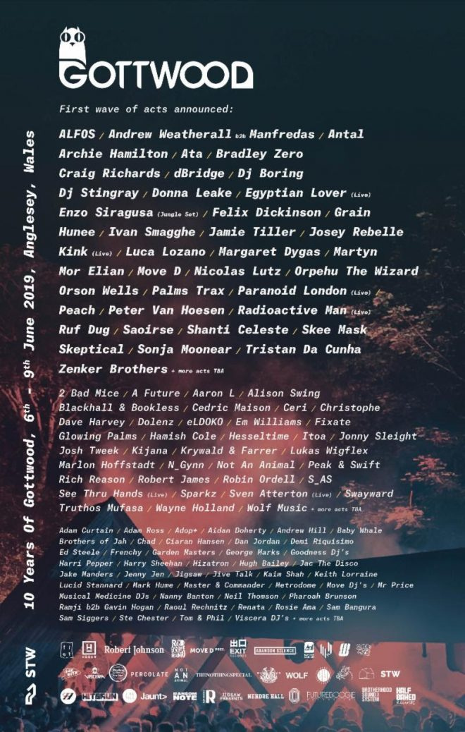 The first names are in for Gottwood's 10th anniversary edition