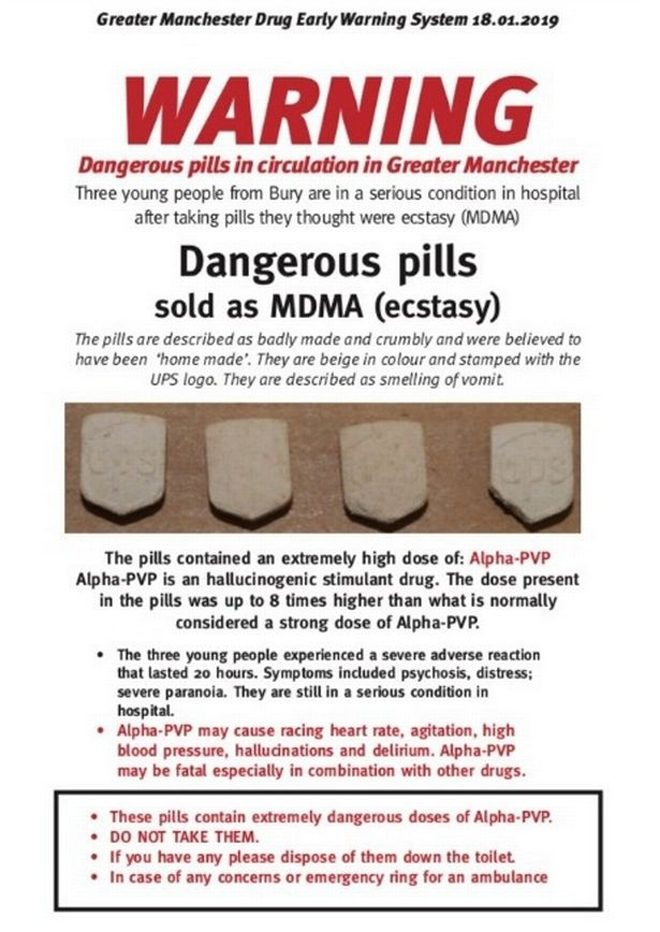 Police issue warning for UPS pills in Greater Manchester