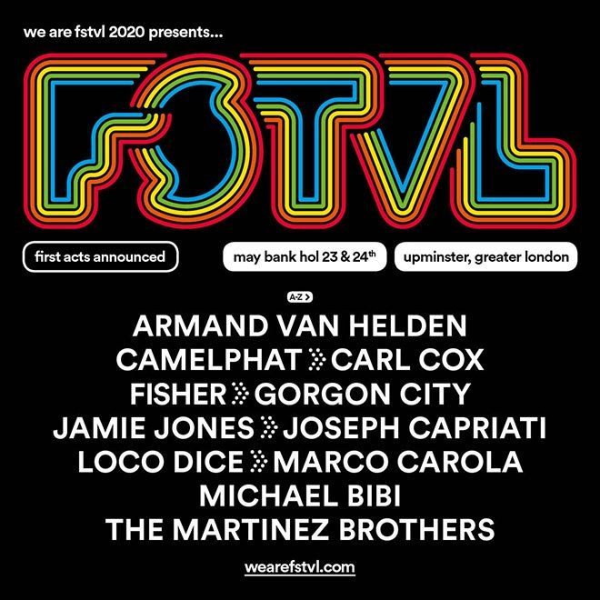 Carl Cox among first names for We Are FSTVL 2020