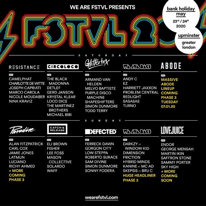 The Black Madonna and Andy C among additions for We Are FSTVL 2020